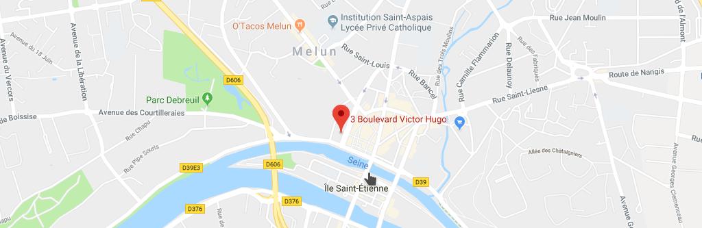 3 Boulevard Victor Hugo 77000 Melun. Plan GoogleMaps